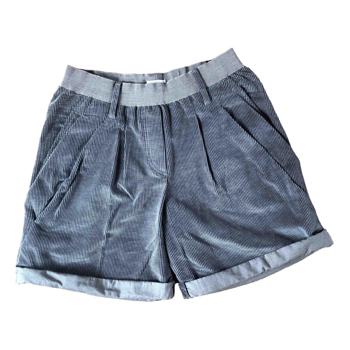 Brunello Cucinelli \N Shorts in  Anthrazit Baumwolle