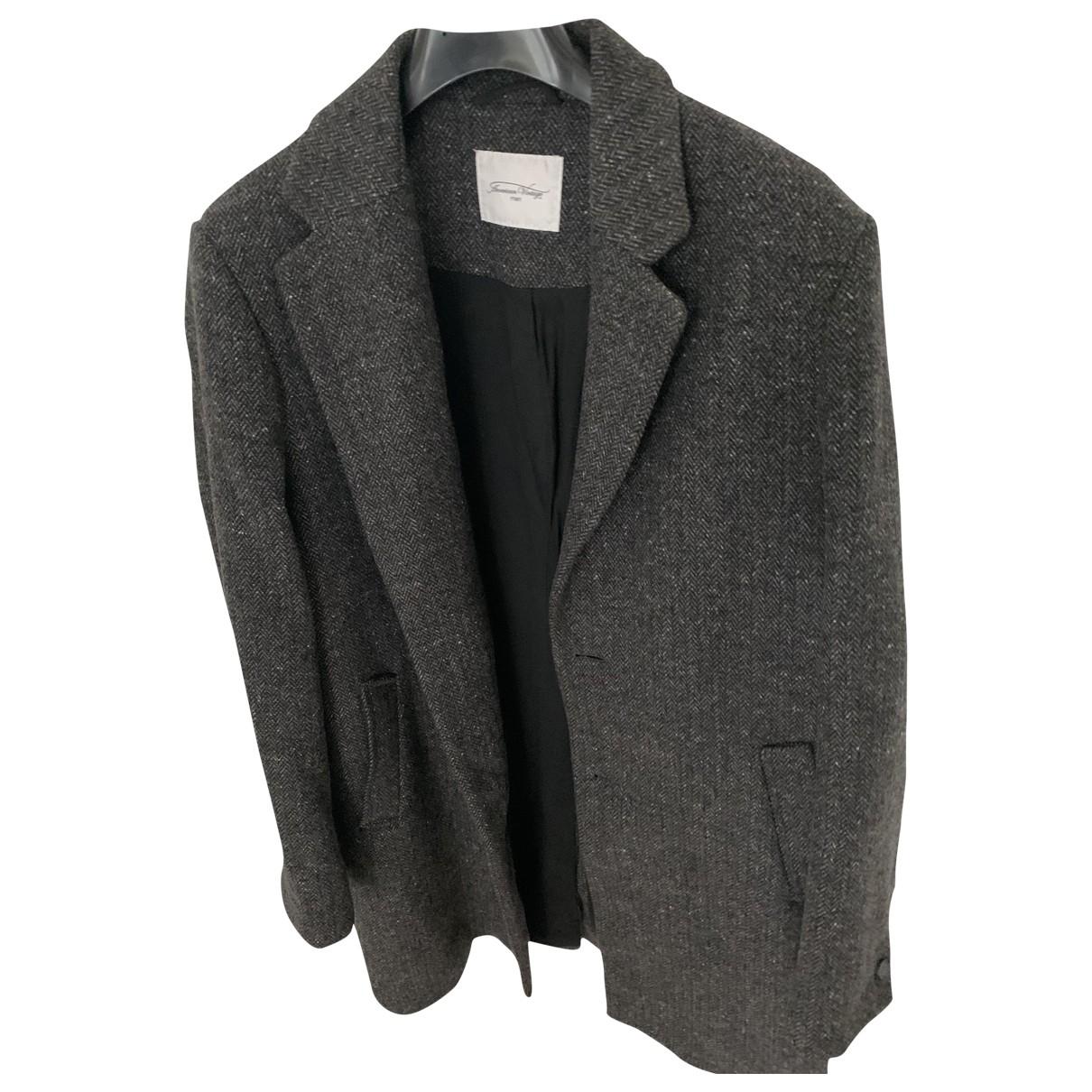 American Vintage - Manteau   pour homme en laine - gris