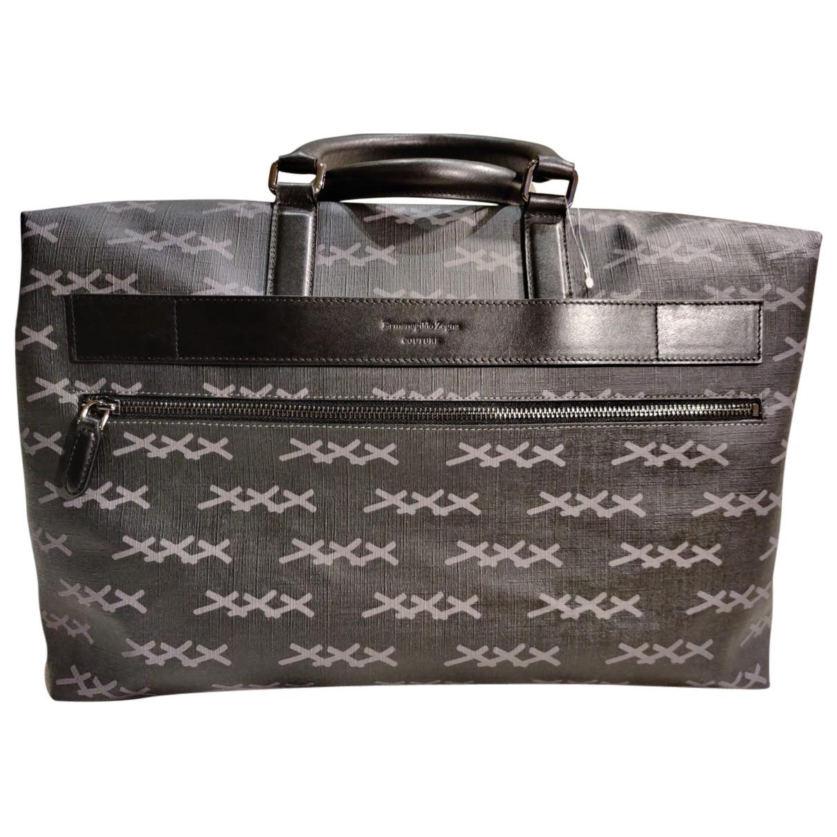Ermenegildo Zegna N Grey Leather bag for Men N