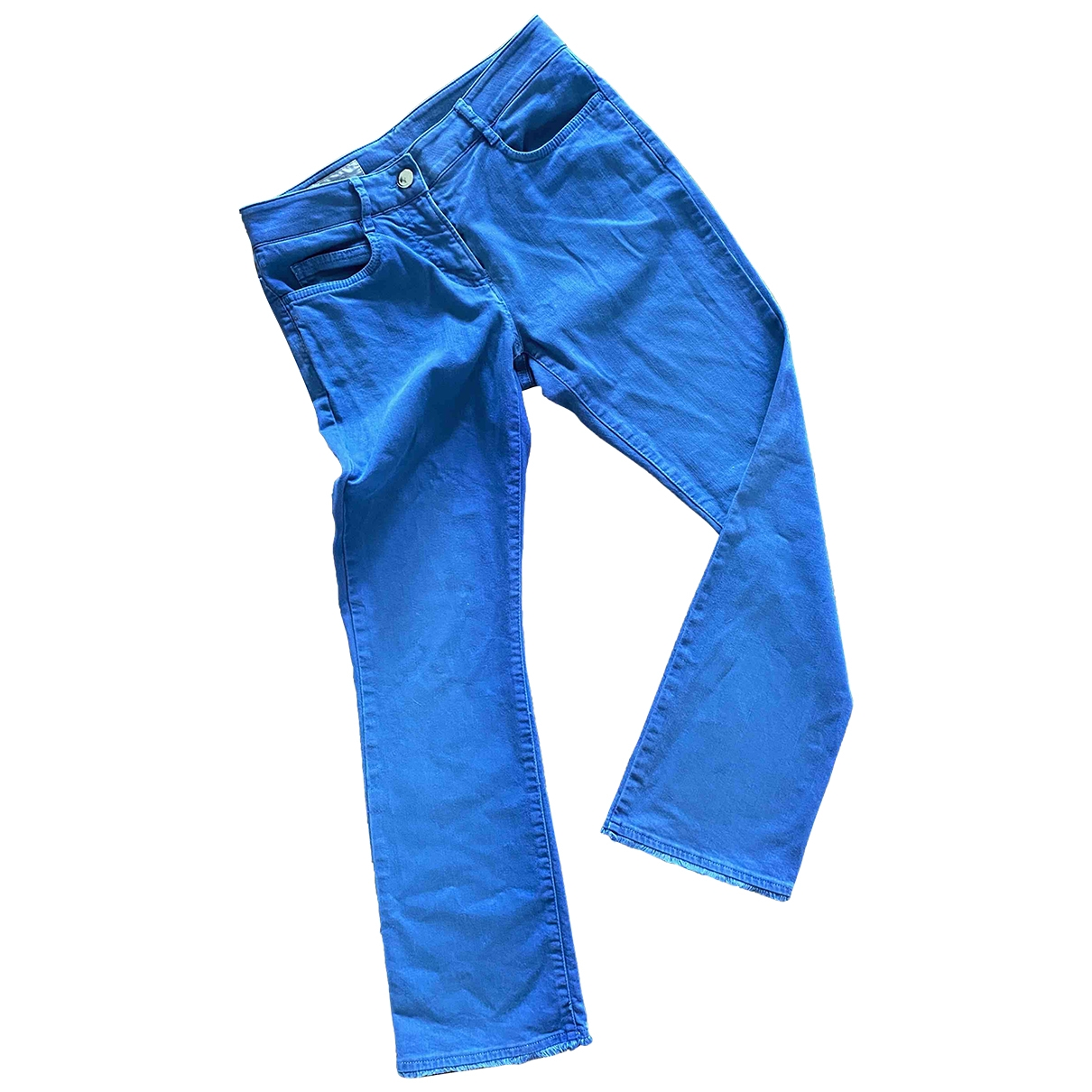 Incotex \N Blue Cotton Trousers for Women 38 IT