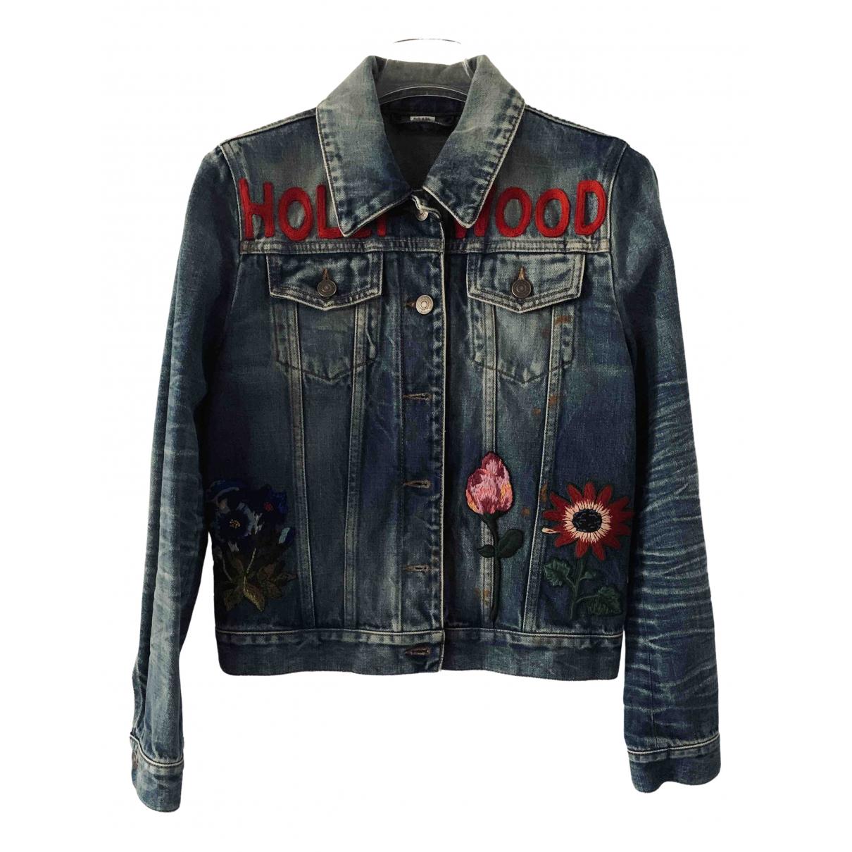 Gucci \N Blue Denim - Jeans jacket for Women 36 IT