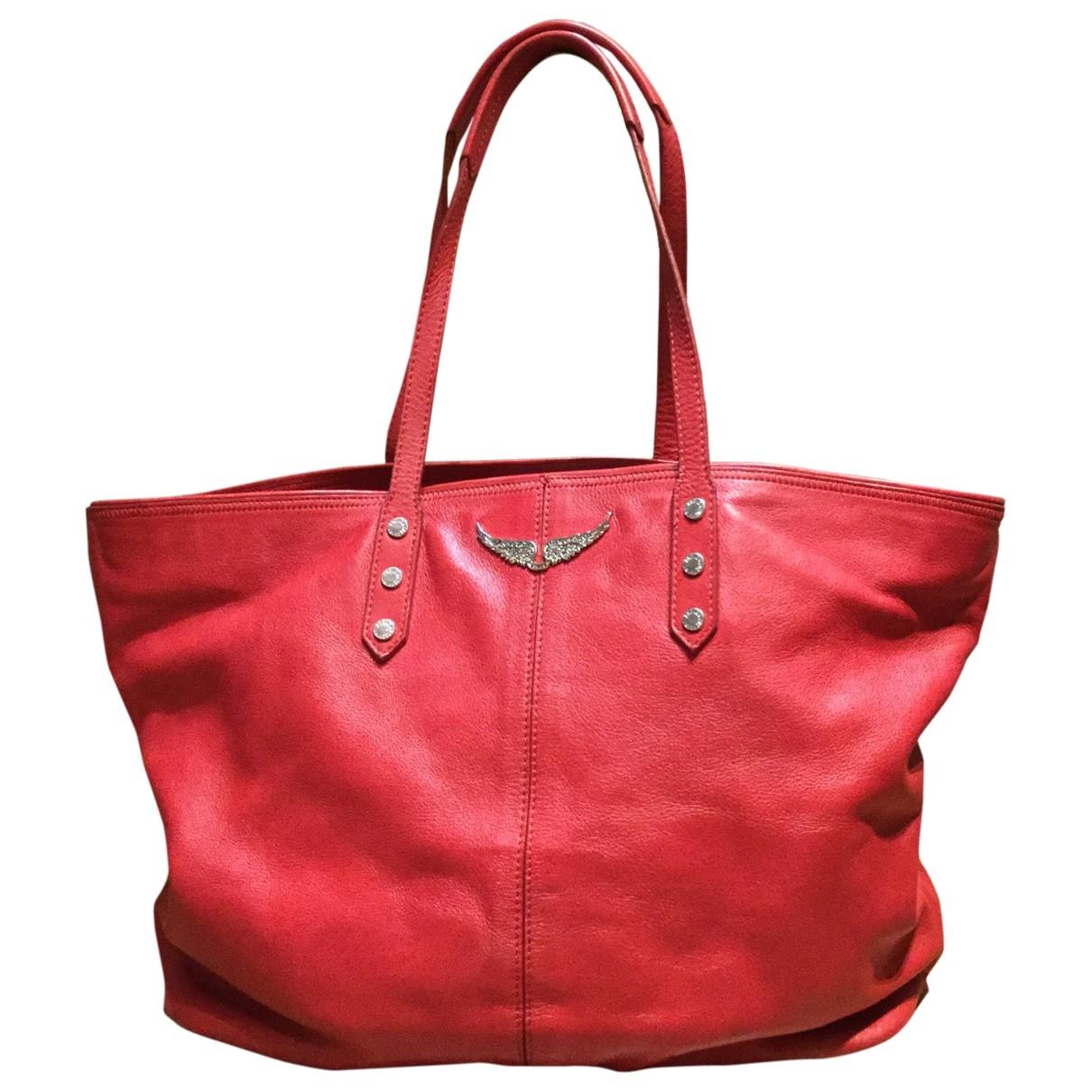 Zadig & Voltaire - Sac a main   pour femme en cuir - rouge