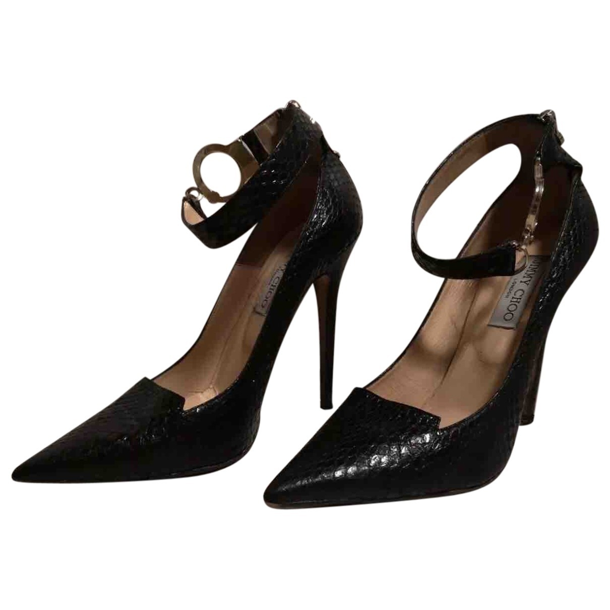 Jimmy Choo \N Black Leather Heels for Women 40 EU