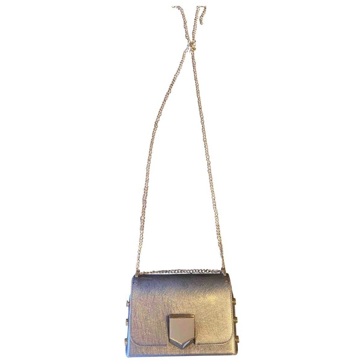 Jimmy Choo Lockett Handtasche in  Anthrazit Leder
