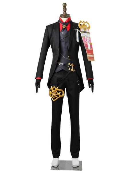 Milanoo Touken Ranbu Cosplay Black Daihannya Nagamitsu Uniform Cloth Outfit