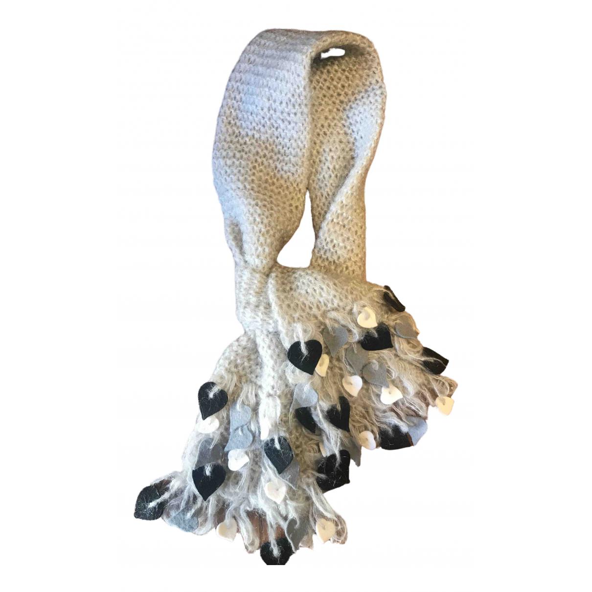 Moschino - Foulard   pour femme en laine - gris