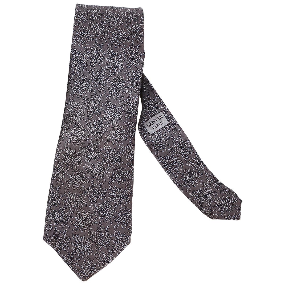 Lanvin - Cravates   pour homme en soie - gris