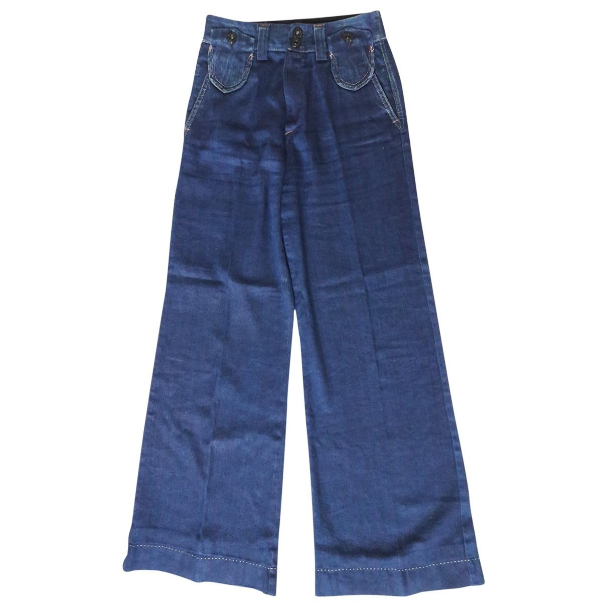 Non Signé / Unsigned \N Blue Denim - Jeans Jeans for Women 28 US