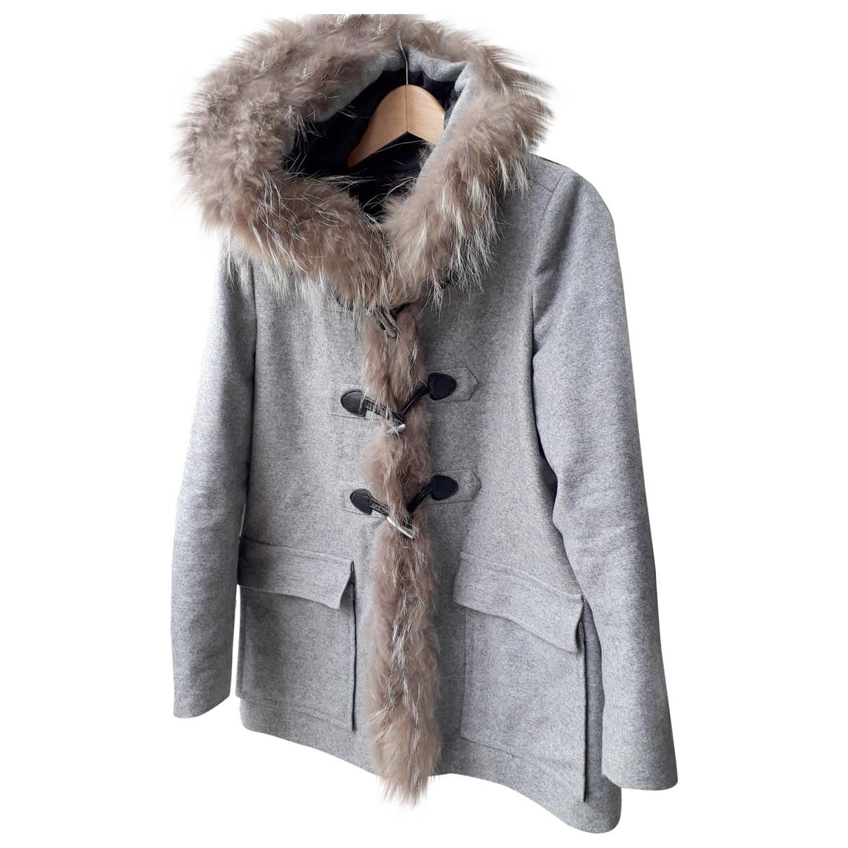 Maje \N Maentel in  Grau Wolle