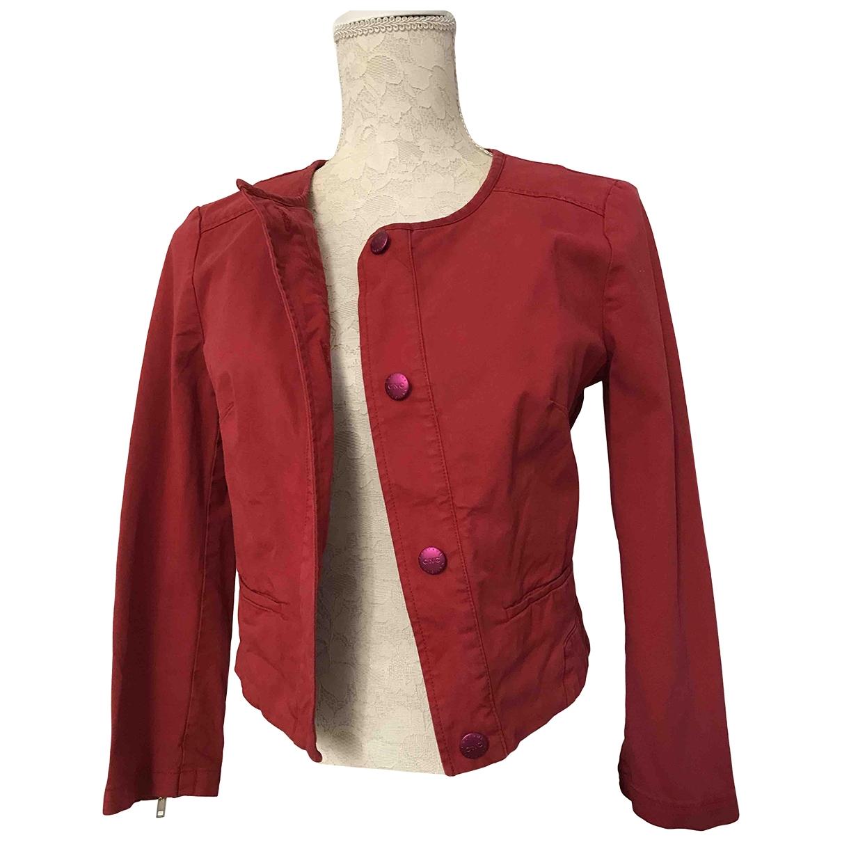 Costume National - Veste   pour femme en denim - rouge