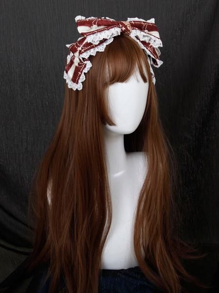 Milanoo Classic Lolita Headdress Talia Story Bows Jacquard Lace Lolita Headband  Exclusive