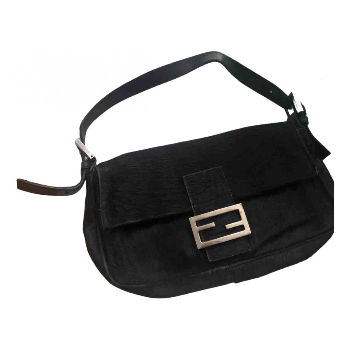Fendi \N Handtasche in  Schwarz Kalbsleder in Pony-Optik
