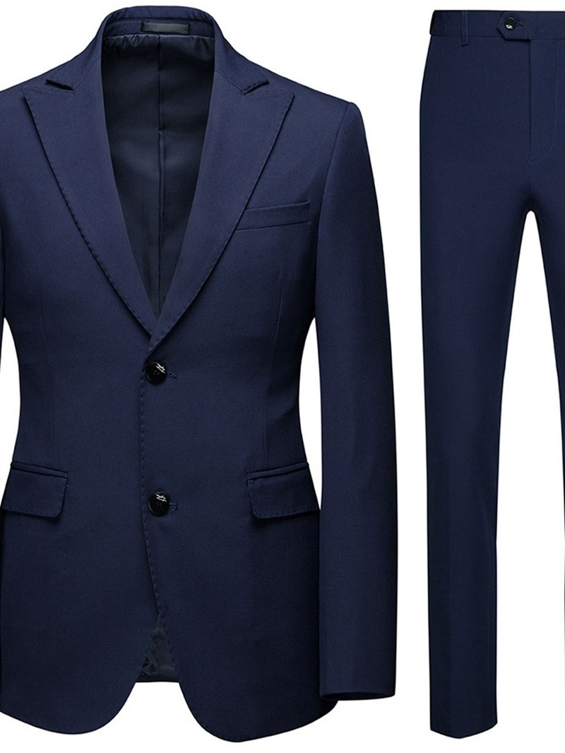 Ericdress Formal Single-Breasted Plain Men's Dress Suit