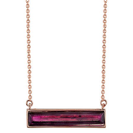 Footnotes Amethyst 18 Inch Cable Rectangular Pendant Necklace, One Size , No Color Family
