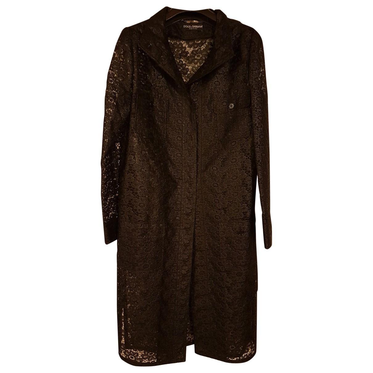 Dolce & Gabbana \N Maentel in  Schwarz Polyester