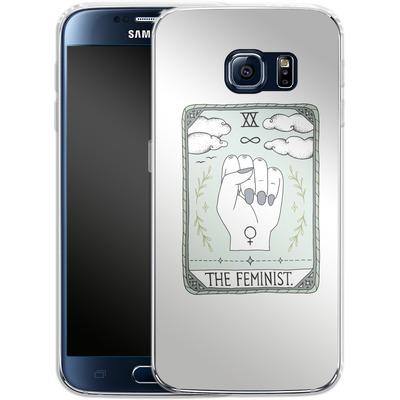 Samsung Galaxy S6 Silikon Handyhuelle - The Feminist von Barlena