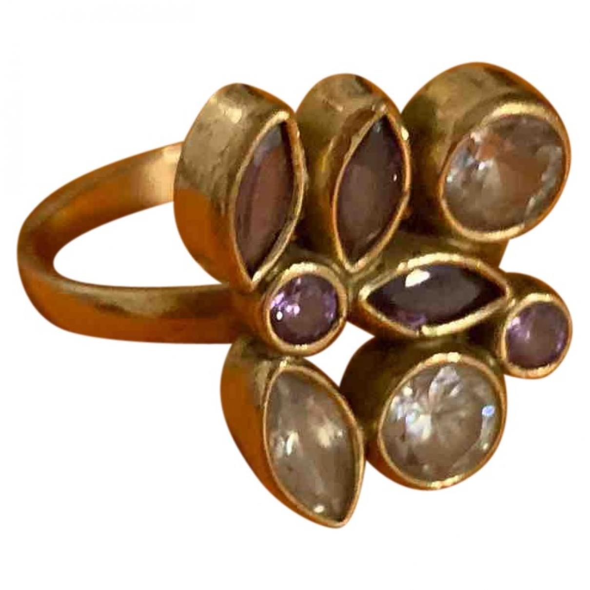 Non Signe / Unsigned Bagues Cocktails Ring in  Gold Vergoldet