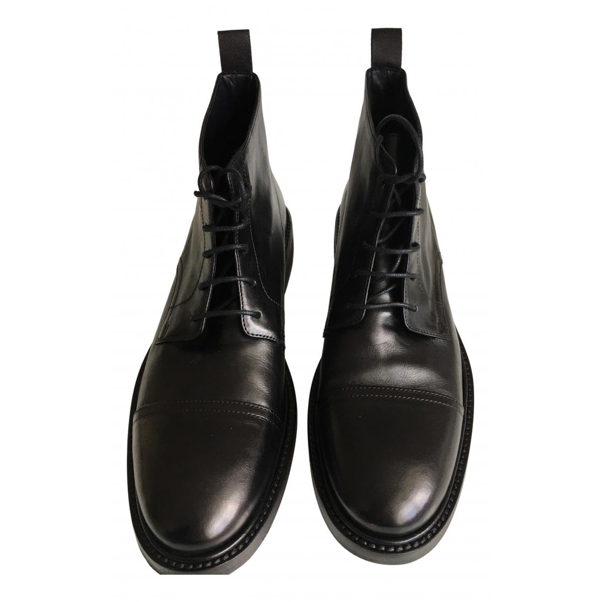 Paul Smith - Boots   pour femme en cuir - noir