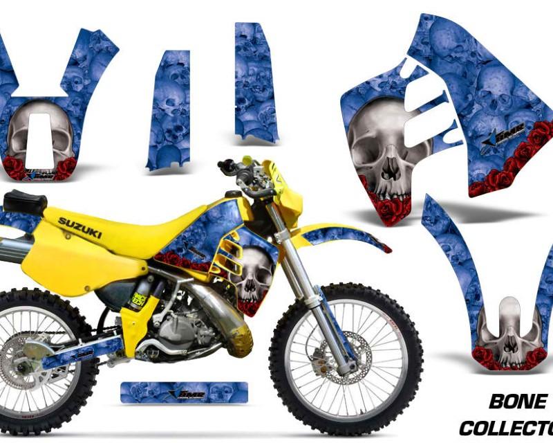 AMR Racing Dirt Bike Graphics Kit Decal Sticker Wrap For Suzuki RMX250 1989-1998áBONES BLUE
