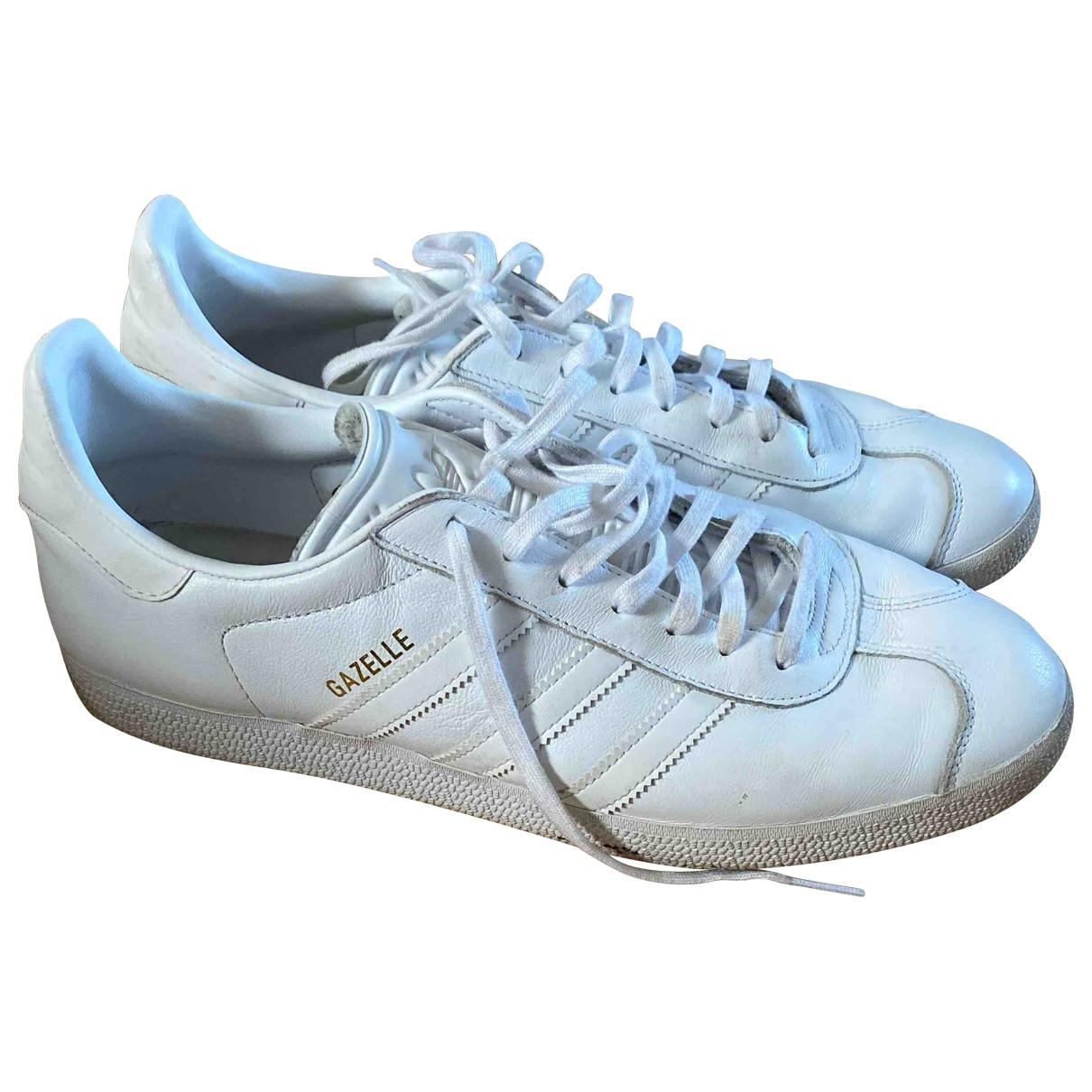 Adidas - Baskets Gazelle pour homme en cuir - blanc