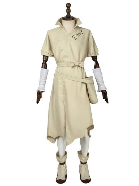 Milanoo Halloween Carnaval Dr. Stone Ishigami Senku Uniforme Paño Cosplay Disfraz