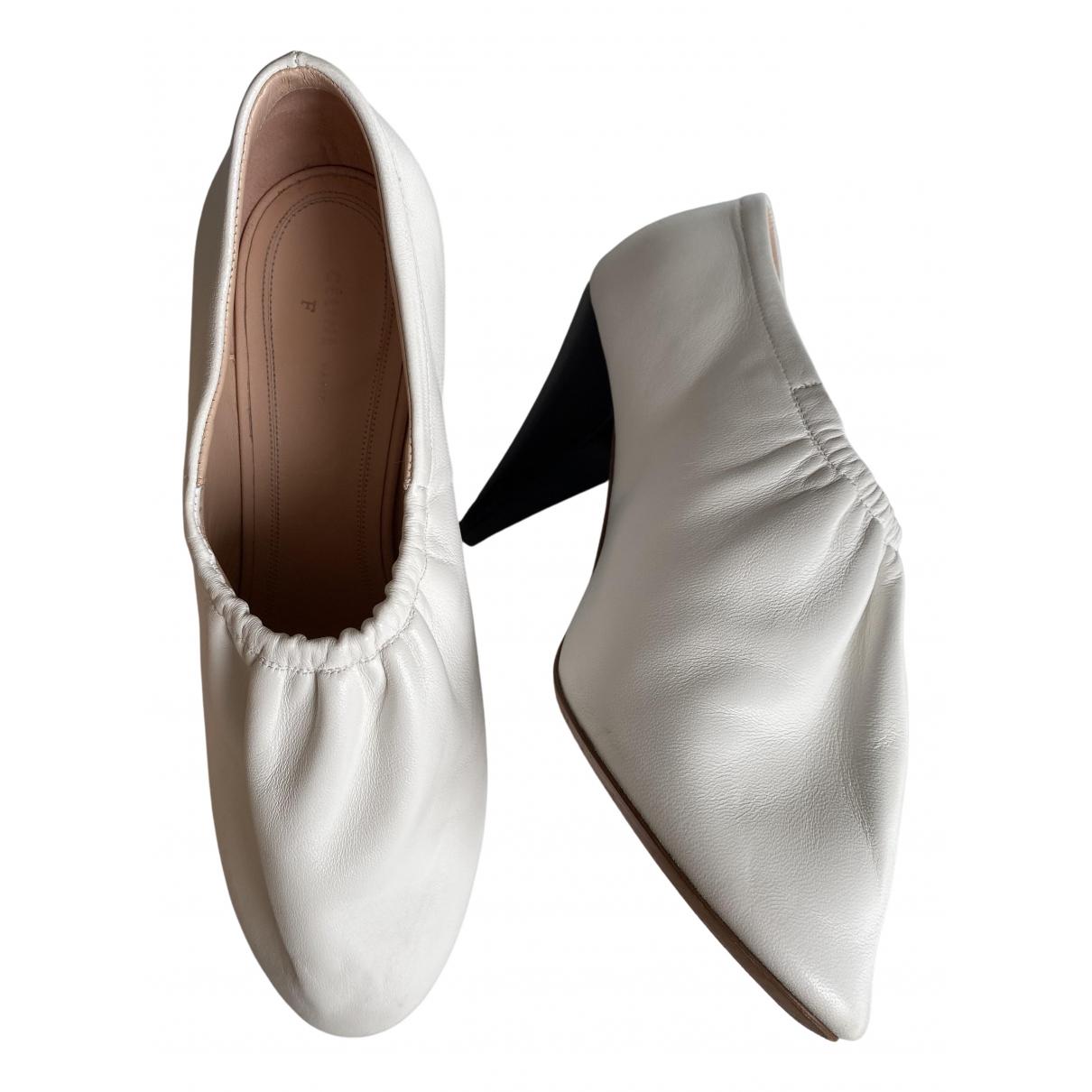 Tacones Soft Ballerina de Cuero Celine