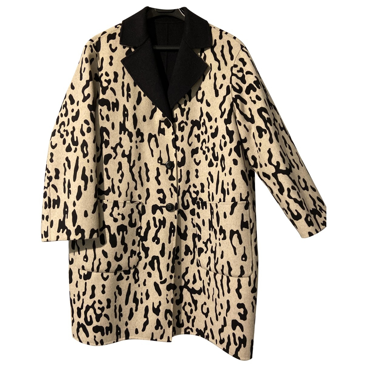 Max Mara Studio \N Blue Wool coat for Women 38 FR