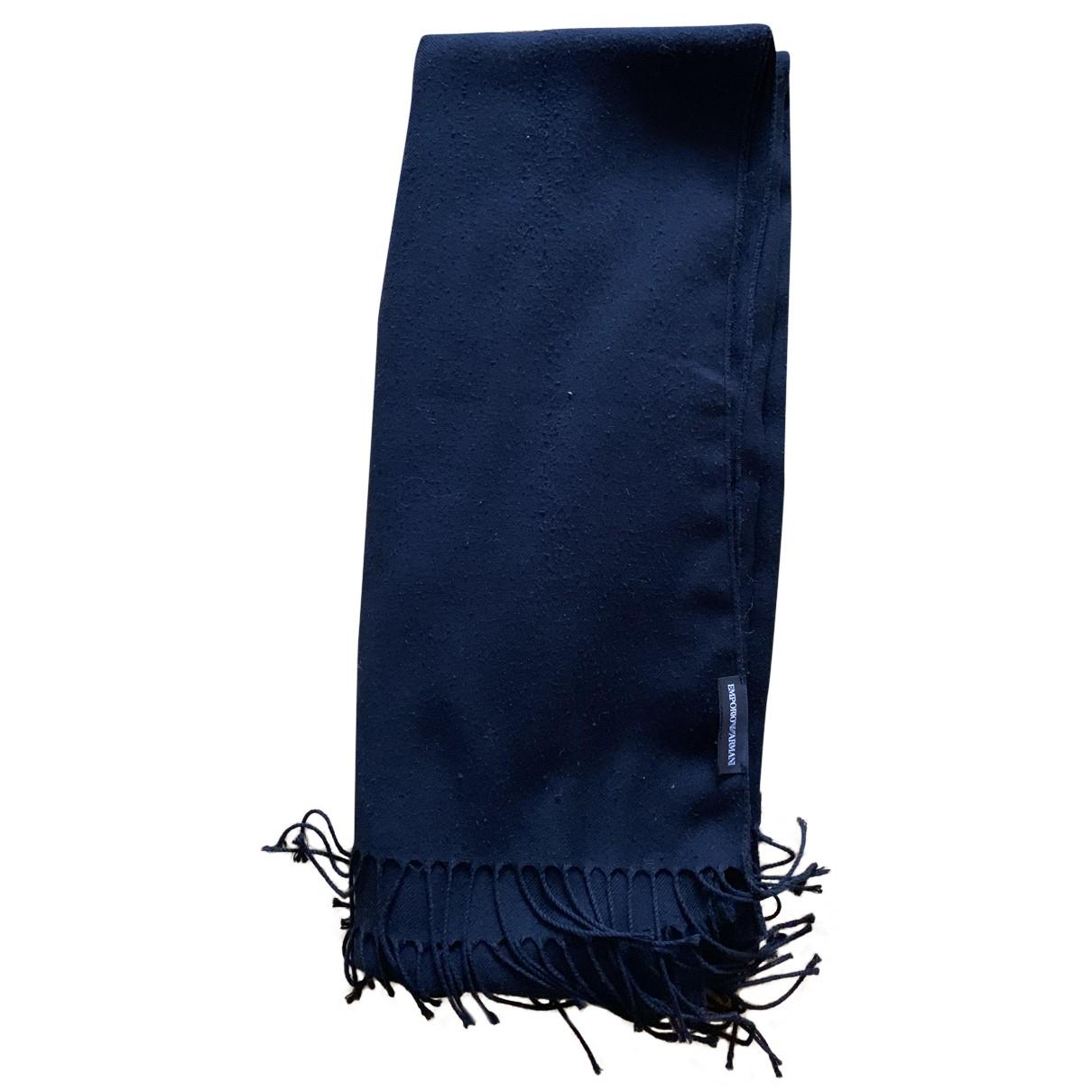 Emporio Armani N Black Cotton scarf & pocket squares for Men N