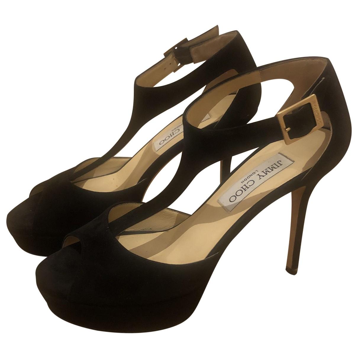 Jimmy Choo \N Black Suede Sandals for Women 37.5 EU