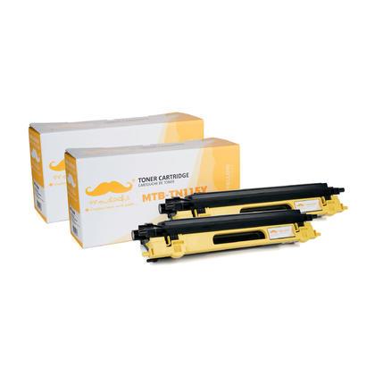 Compatible Brother TN115Y cartouche de toner jaune haute capacite - Moustache - 2/paquet