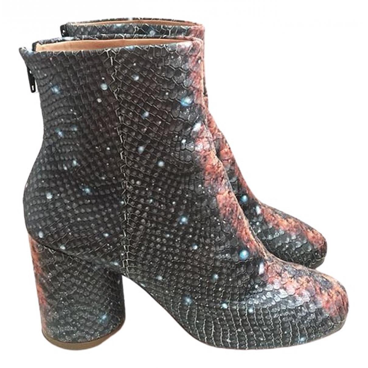 Maison Martin Margiela \N Grey Leather Ankle boots for Women 37.5 EU
