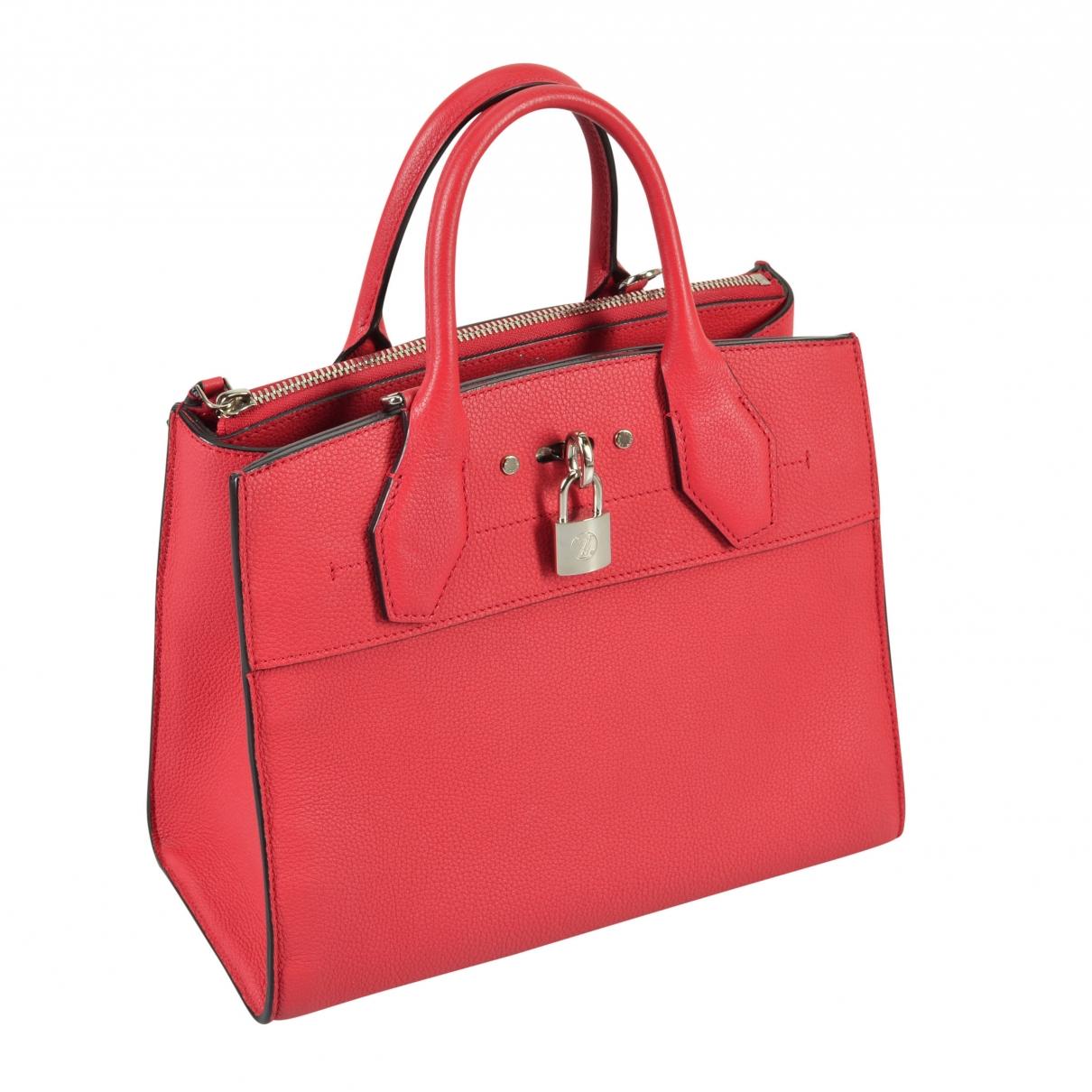 Louis Vuitton City Steamer Red Leather handbag for Women \N