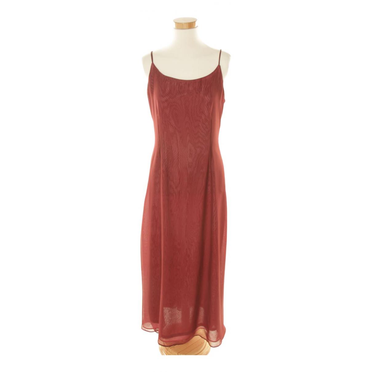 - Robe   pour femme en coton - bordeaux