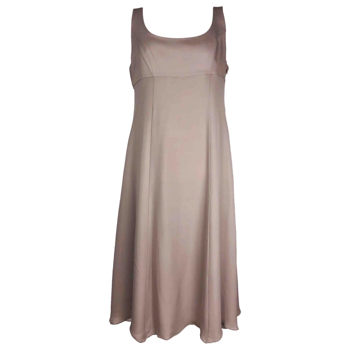 Emporio Armani - Robe   pour femme en soie - beige