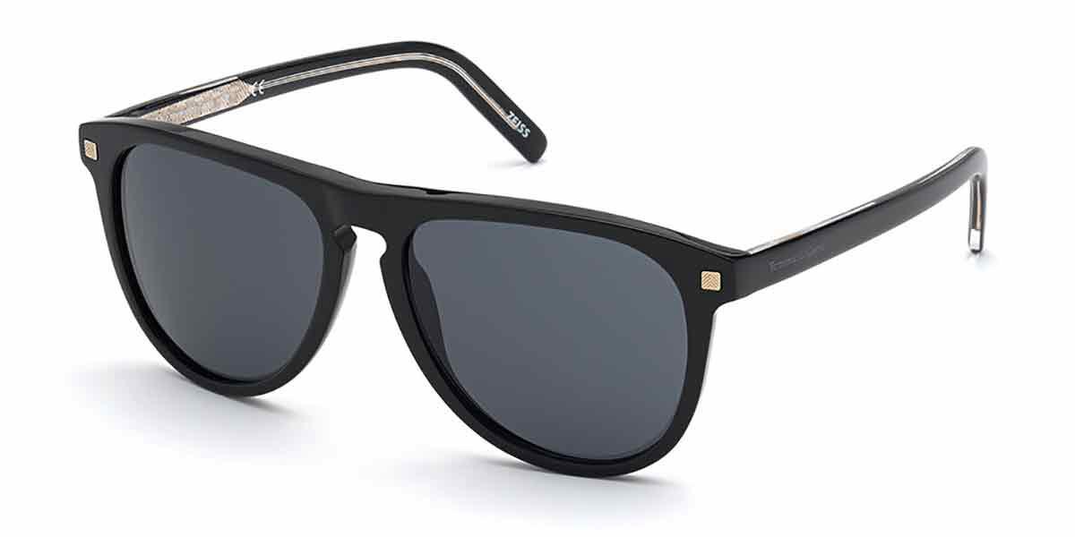 Ermenegildo Zegna EZ0171 01A Mens Sunglasses Black Size 56