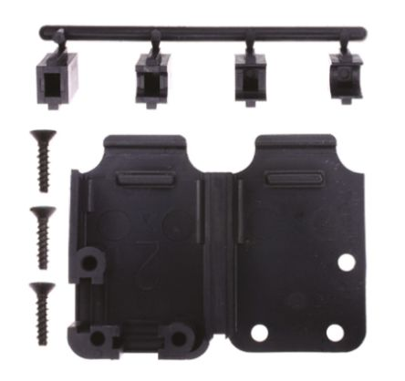 TE Connectivity , 207470 Thermoplastic D-sub Connector Backshell, 15 Way, Black