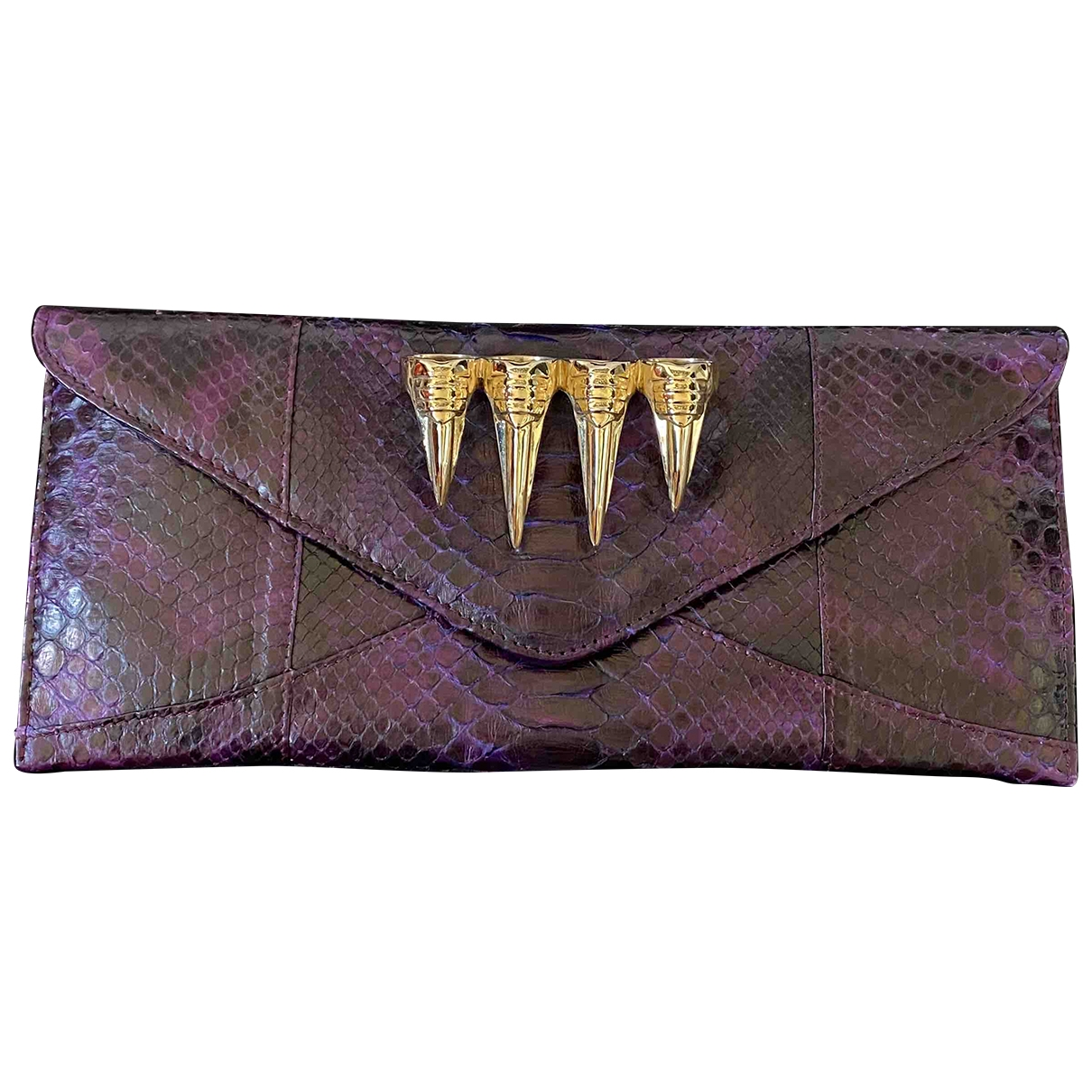 Maison Du Posh \N Purple Python Clutch bag for Women \N