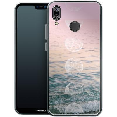 Huawei P20 Lite Silikon Handyhuelle - Moontime Beach von Emanuela Carratoni