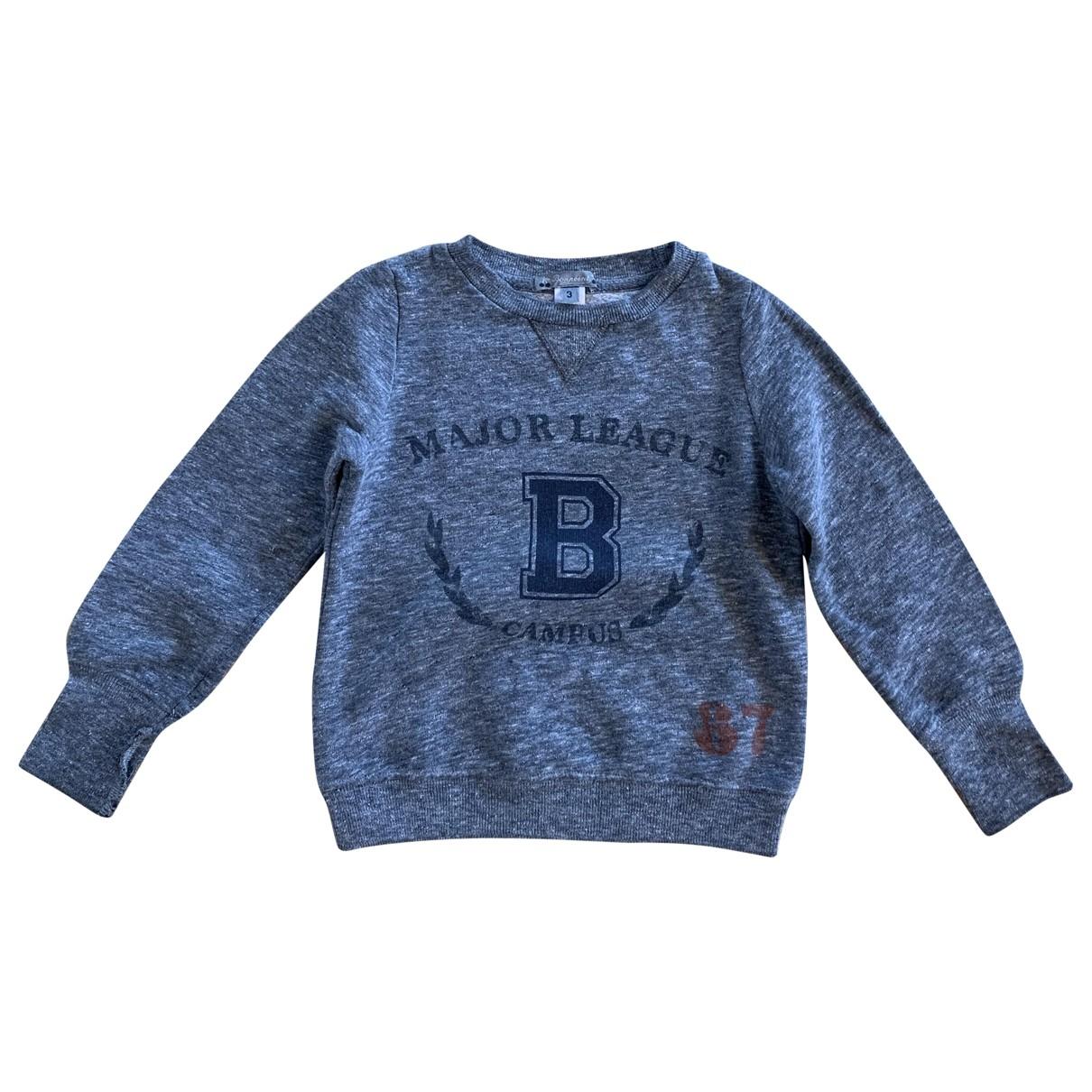 Bonpoint \N Pullover, StrickJacke in  Grau Baumwolle