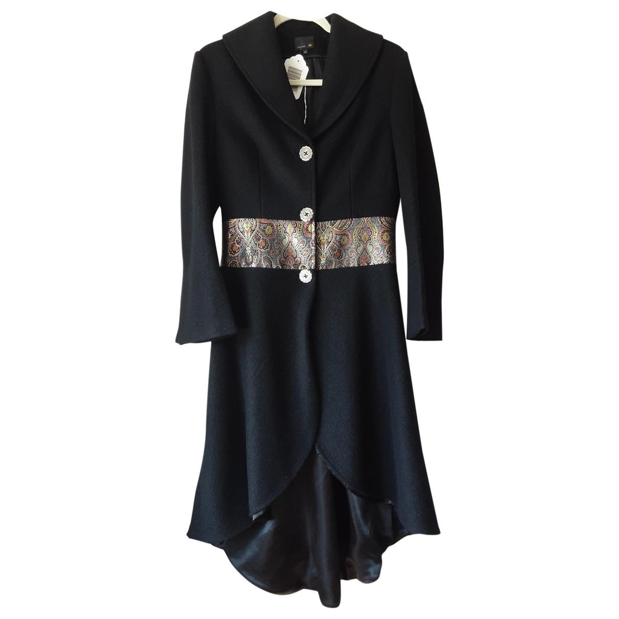 Fendi \N Black Wool coat for Women 44 IT