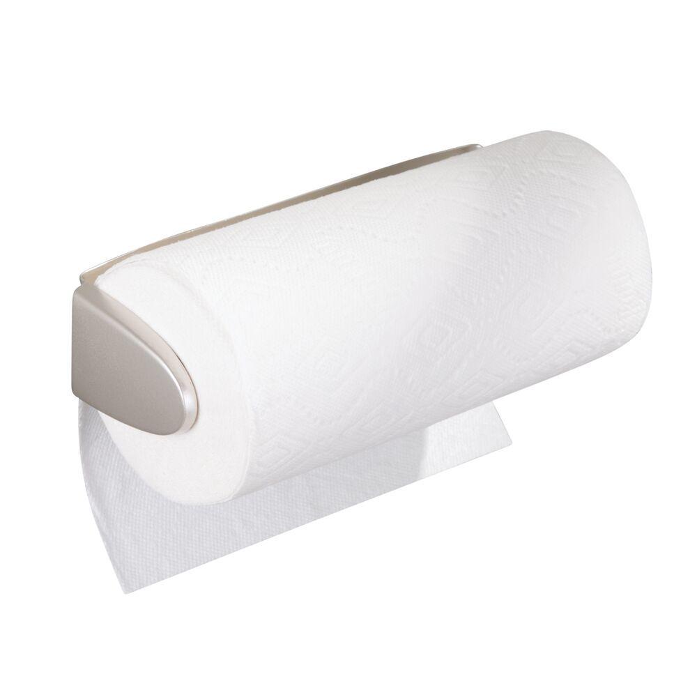 Metal Wall Mount / Under Cabinet Paper Towel Holder in Matte Black, 4.5