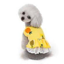 1 Stueck Hundekleid mit Ananas Muster