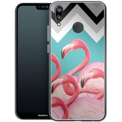 Huawei P20 Lite Silikon Handyhuelle - Flamingo Pattern von Mark Ashkenazi