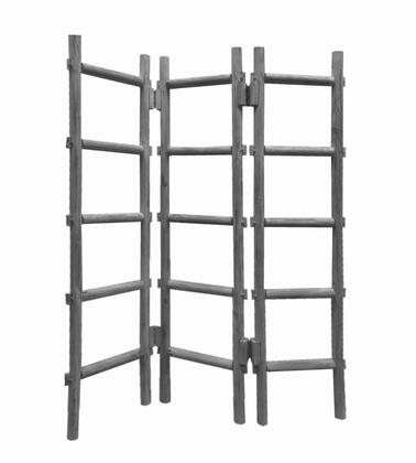 BM205871 Contemporary 3 Panel Wooden Screen with Ladder Design