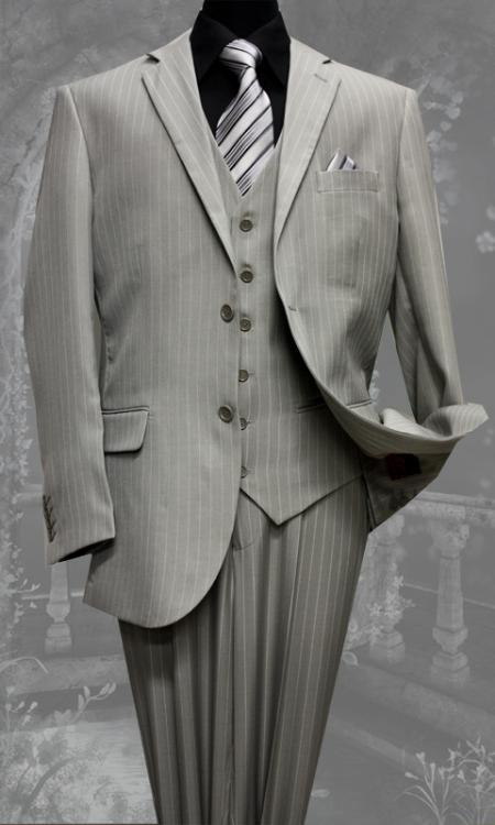 2 Button 3 Piece With Vest Super 130s Wool Suit