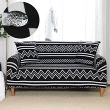 Chevron Pattern Sofa Cover Without Cushion
