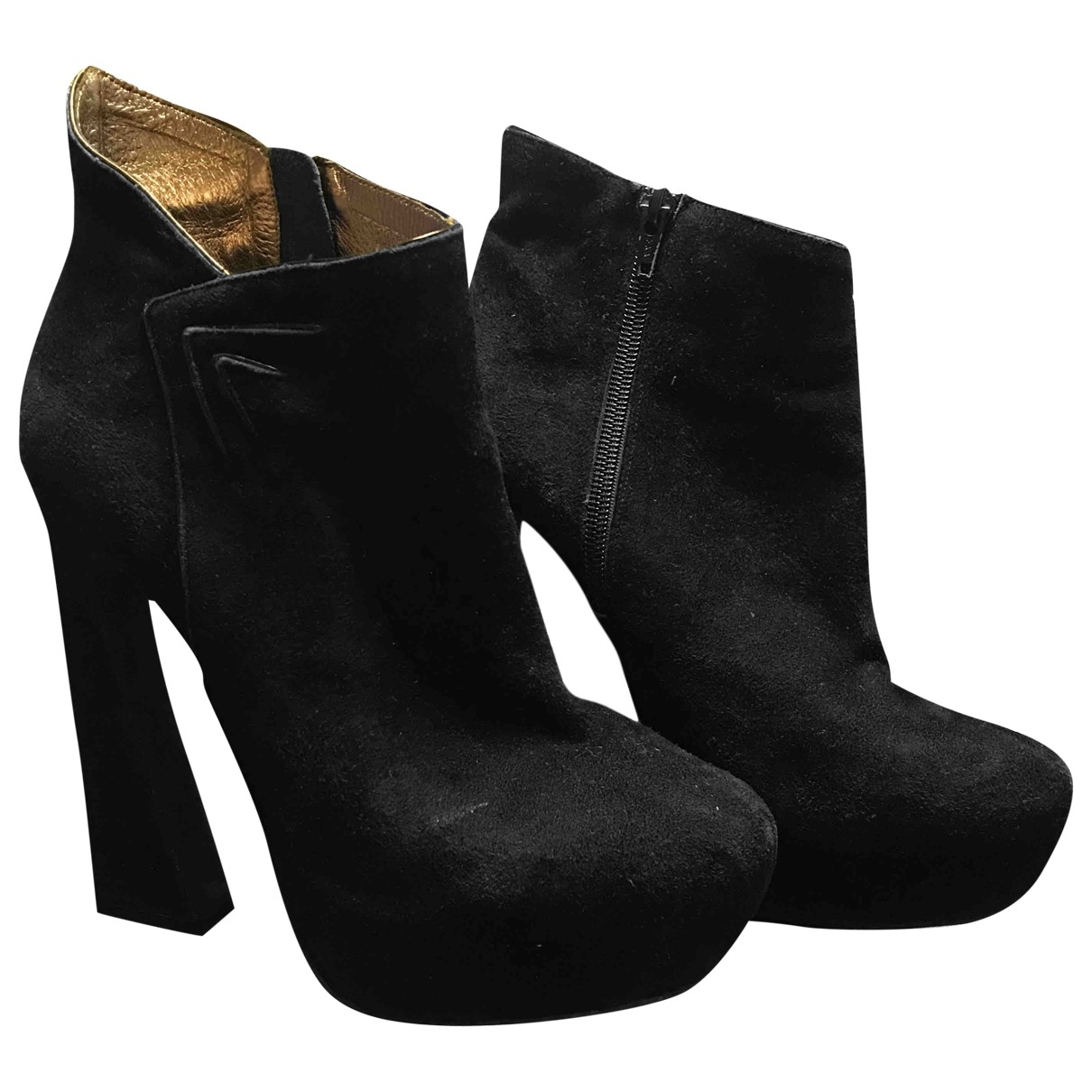 Jeffrey Campbell \N Black Leather Ankle boots for Women 38 EU