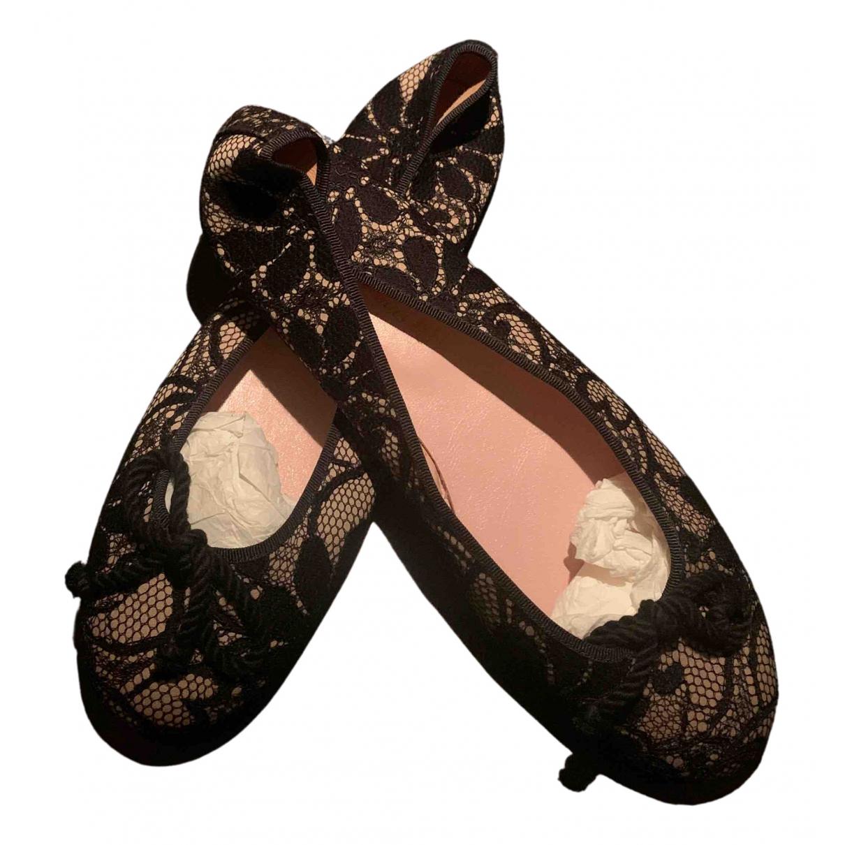 Pretty Ballerinas N Black Leather Ballet flats for Women 40 EU