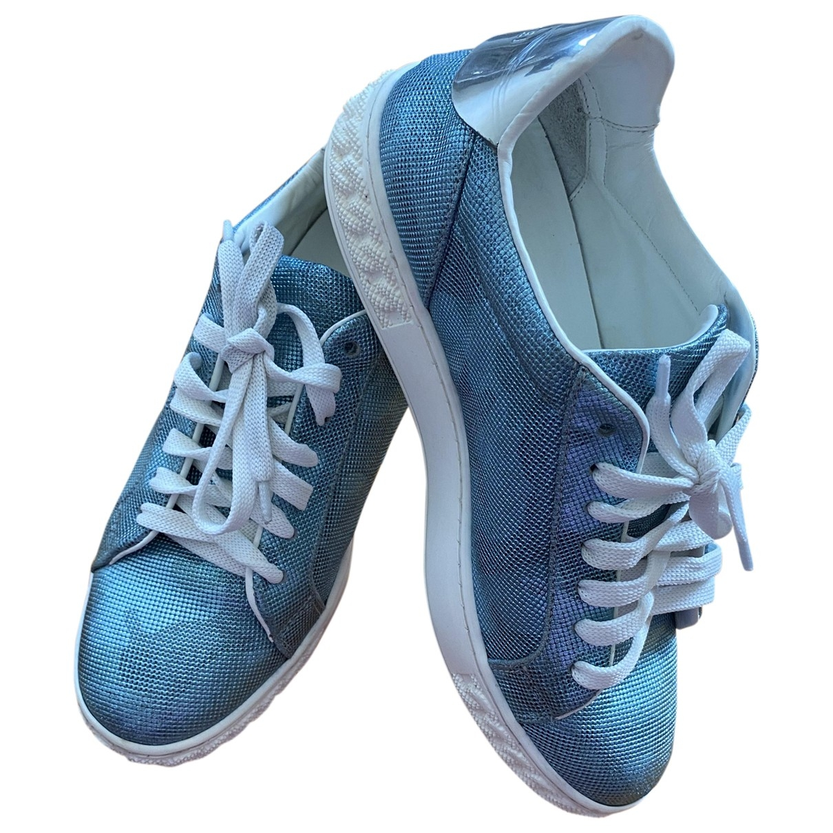 Casadei \N Blue Leather Trainers for Women 37 EU