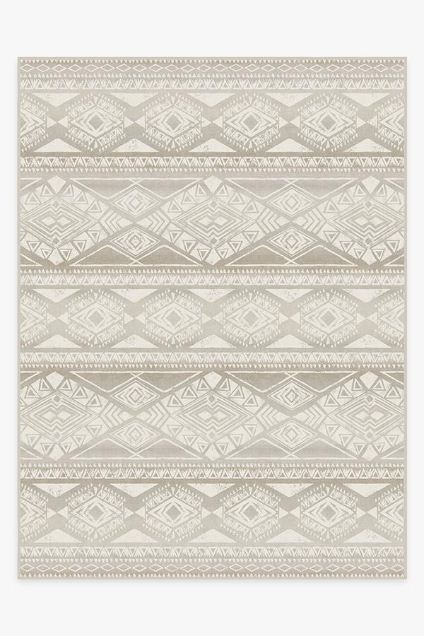 Washable Rug Cover   Suku Grey Rug   Stain-Resistant   Ruggable   9'x12'
